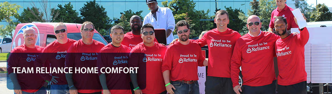 The team of Reliance Home Comfort was active for United Way