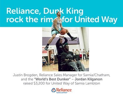 Reliance Dunk King Rock the Rim for United Way