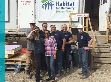 Reliance team at Habitat for Humanity build