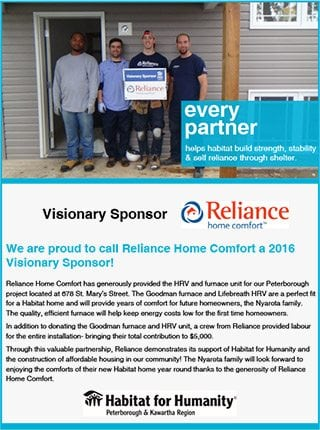 Reliance™ Habitat for Humanity Partnership