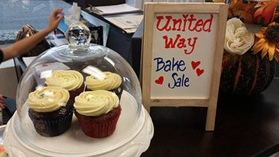 Bake sale to support United Way