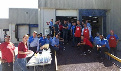 BBQ at branch for United Way.