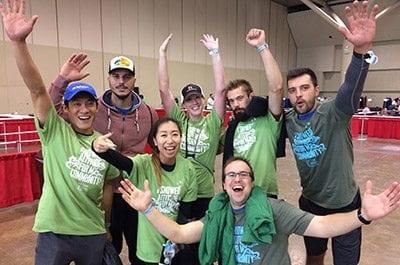 Reliance Team Memeber ready for CN Tower climb