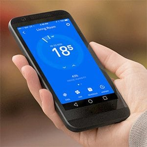 Mobile phone controlling thermostat