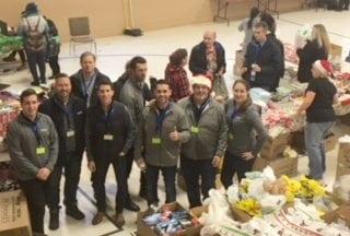 Reliance team members at Oshawa food bank