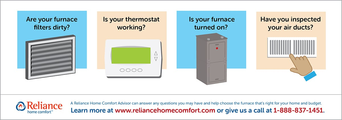 Five Things to Check When Your Furnace Stops Working | Reliance