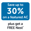 Monthly HVAC: March 2019 – Up to 30% on AC + FREE Nest – WEST